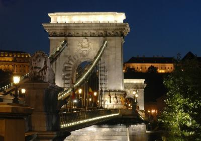View of the Royal Palace and the Chain Bridge
